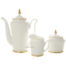 Кофейный сервиз на 6 персон Золотая лента