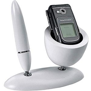 Белая настольная подставка под мобильный телефон
