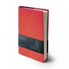 Полудатированный красный ежедневник-портфолио Porto А5