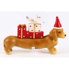 Декоративная фигурка Собака с подарками