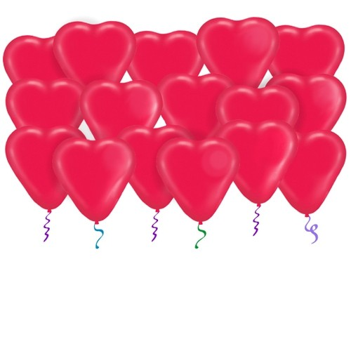 Латексные шары под потолок Сердца