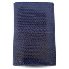 Синяя обложка из кожи морской змеи для паспорта и документов