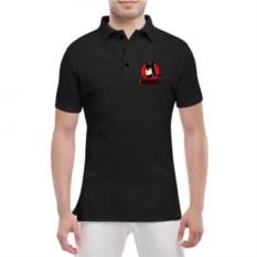 Мужская футболка polo Бетмен черного цвета
