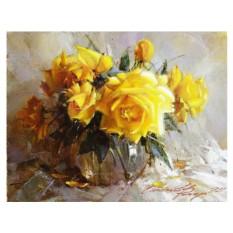 Картина по номерам «Желтые розы»