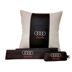 Набор из подушки и накладки на ремень и ключницы Audi