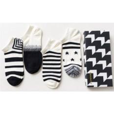 Набор мужских носков Бело-черных