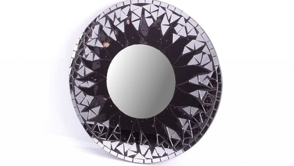 Зеркало настенное Солнце, черное