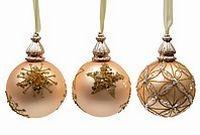 Набор стеклянных шаров Luxury Retro Style, золотой шелк