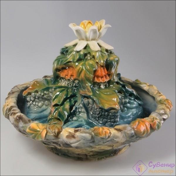 Настольный фонтан «Каменный цветок»