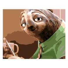 Картина по номерам «Ленивец из Зверополиса»