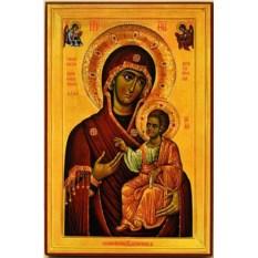Иверская икона Божьей Матери на дереве Вратница
