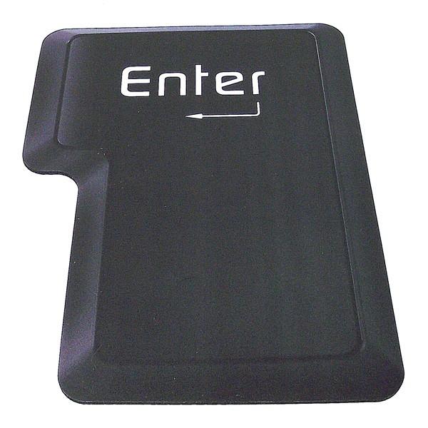 Коврик для компьютерной мышки в виде черной кнопки Enter