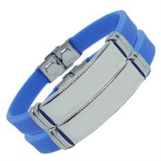 Парные голубые браслеты для двоих