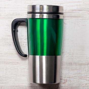 Зелёная термокружка Чаепитие