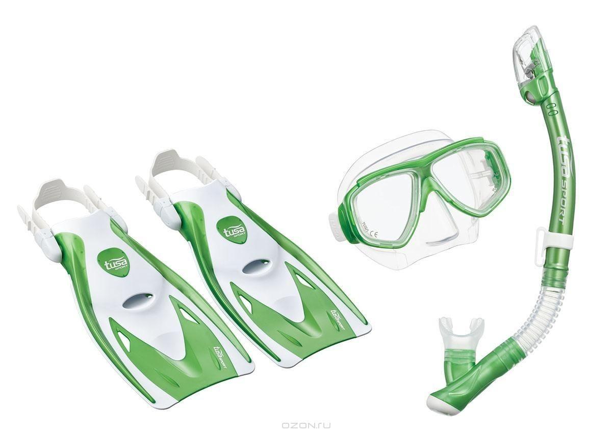 Комплект для плавания Tusa Sport TS UPR7221B GR, зеленый