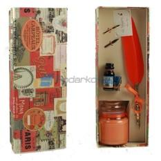Подарочный набор для письма Совершенство, цвет оранжевый