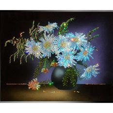 Картина с кристаллами Swarovski «Букет из ромашек»