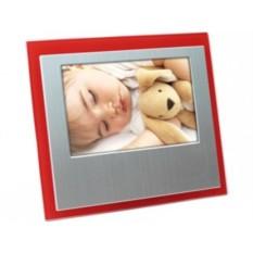 Серебристо-красная рамка для фотографии 10х15 см