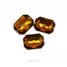 Пришивные стразы Астра, акриловые, прямоугольные, цвет: медный (13), 13х18 мм, 6 шт