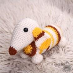 Игрушечная собака-полосака Такса