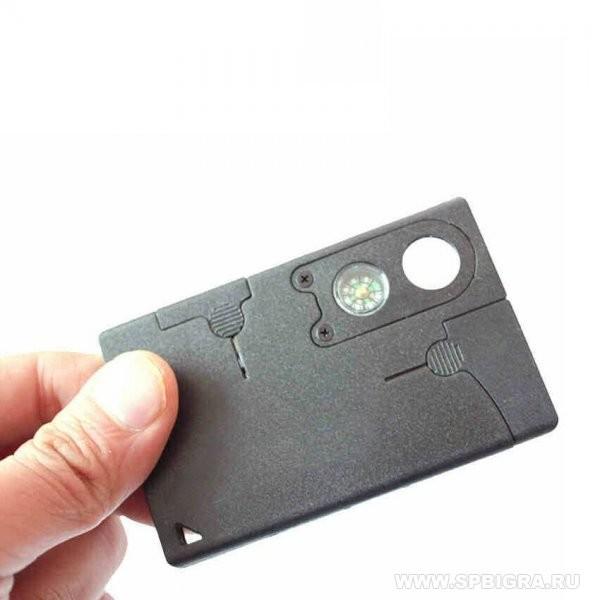 Кредитка для выживания Универсальный нож-кредитка Carzor