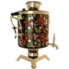 Самовар электрический на 25 литров с росписью Хохлома