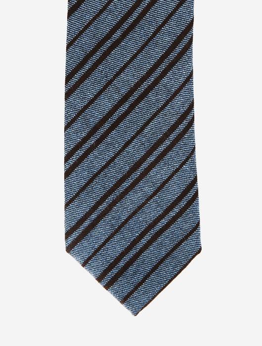 Полосатый галстук серых и черных тонов Calabrese