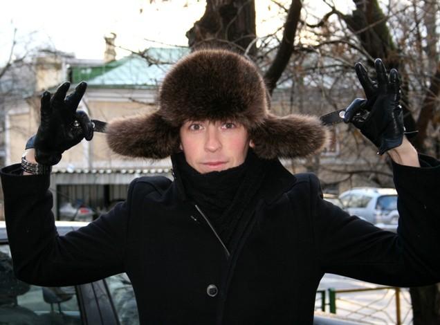 Шапка-ушанка Сибирия из енота, светло-коричневая