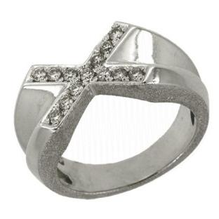 Кольцо с 13-ю бриллиантами