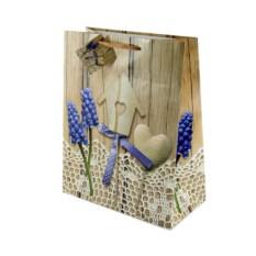 Бумажный ламинированный пакет Деревянное сердце