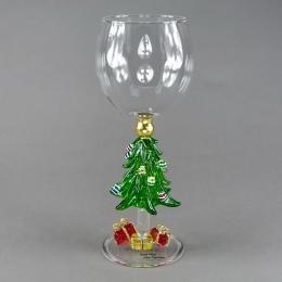 Бокал для вина  «Елка с подарками»