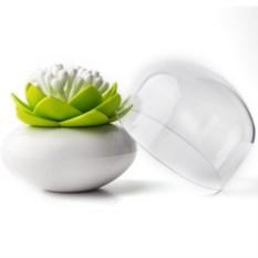 Белый контейнер для хранения ватных палочек Lotus