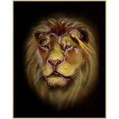 Картина из кристаллов Swarovski «Лев»