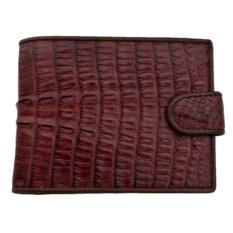 Мужской кошелек из кожи каймана коричневого цвета