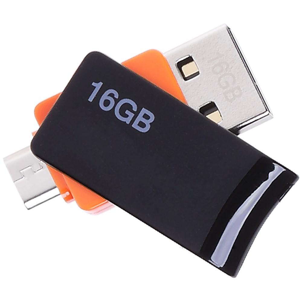 Флешка для компьютера, смартфона или планшета Hybrid, 16 Гб