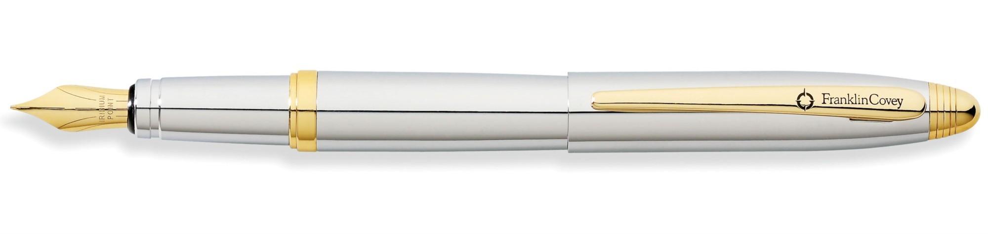 Перьевая ручка Franklin Covey Lexington Chrome/Gold-Tone