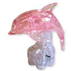 3D головоломка Розовый дельфин