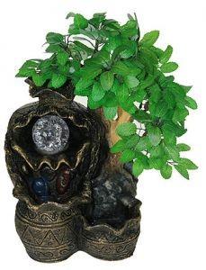 Фонтан декоративный Бонсай, с подсветкой
