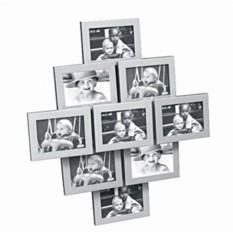 Коллаж из девяти фоторамок Пирамида Металл