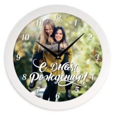 Настенные часы с вашим фото «С днем рождения»