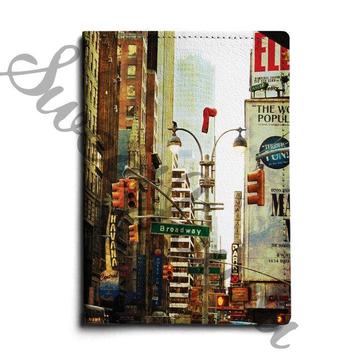 Кожаная обложка для паспорта Broadway