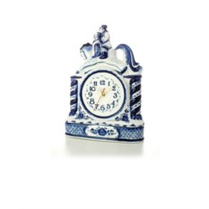Часы с художественной росписью Сивка-бурка (Гжель)