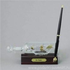 Корабль в бутылке с ручкой Святой Павел 1784 г.