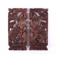Декоративное панно Слоны