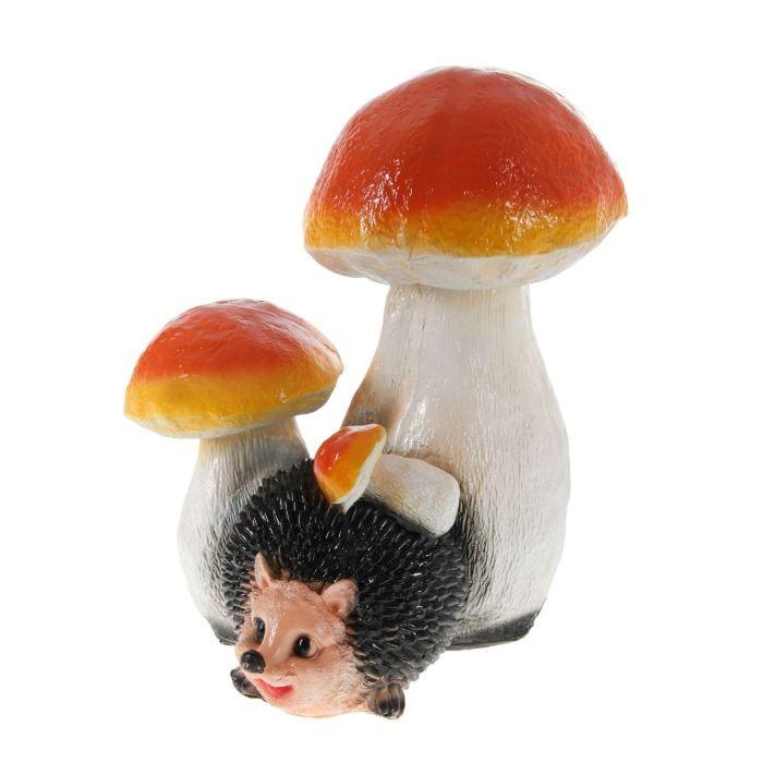 Садовая фигура Ёж под грибом
