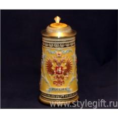 Пивная кружка с крышкой Россия. Москва