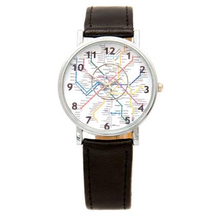 Наручные часы «Карта метро»