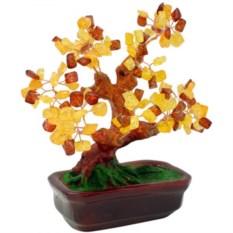 Деревце счастья Бонсай (янтарь)