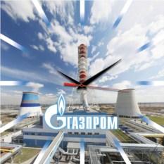 Сувенирные настенные часы Газпром
