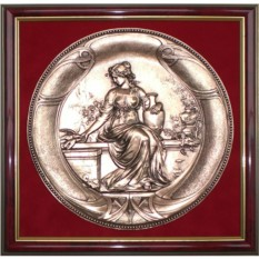Картина из металла Девушка с голубем